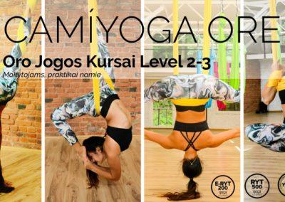 oro joga mokymai aerial yoga camiyoga