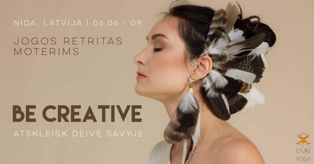 Be Creative | Jogos retritas - stovykla moterims su CamíYoga