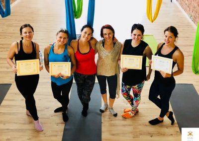 #1 CamiYoga oro jogos Level 1-2 mokytojų kursai aerial yoga