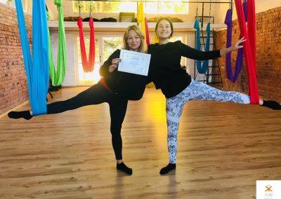 #1 CamiYoga oro jogos Level 2-3 mokytojų kursai aerial yoga teacher training