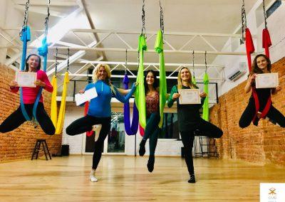 #3 CamiYoga oro jogos Level 1-2 mokytojų lkursai aerial yoga