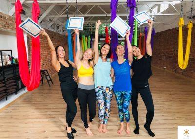 #5 CamiYoga oro jogos Level 1-2 mokytojų kursai aerial yoga