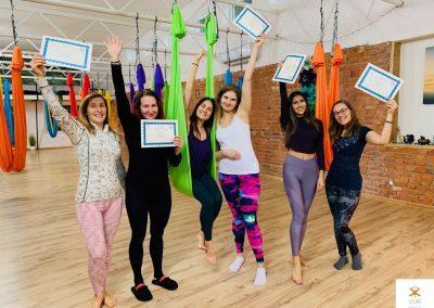 #6 CamiYoga oro jogos Level 1-2 mokytojų kursai aerial yoga