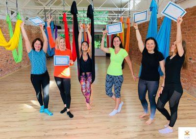 #9 CamiYoga oro jogos Level 1-2 mokytojų kursai aerial yoga