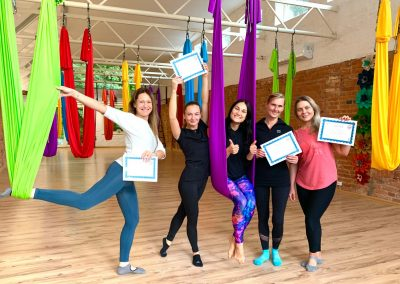 #10 CamiYoga oro jogos Level 1-2 mokytojų kursai aerial yoga
